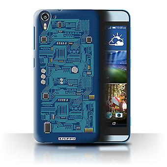 STUFF4 Case/Cover for HTC Desire 826/Blue/Circuit Board