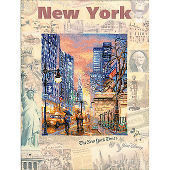 Cities Of The World: New York Counted Cross Stitch Kit 11.75