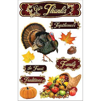 Paper House 3 D Sticker Give Thanks Stdm164e
