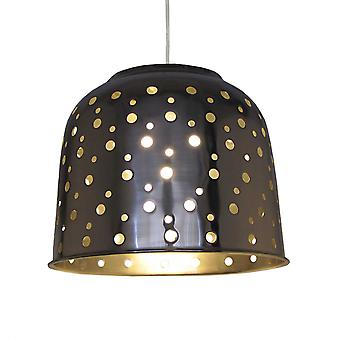 Silver Metal Dome Pendant Shade (with Holes) - 32cm
