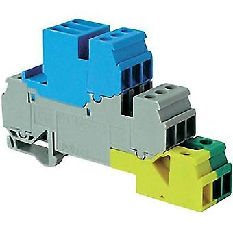 Industrial terminal block 17.8 mm Screws Configuration: Terre, N, L Grey, Blue, Green-yellow ABB 1SNA 110 333 R2700 1 pc