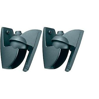 Speaker wall mount Tiltable, Swivelling Distance to wall (max.): 3 cm Vogel´s Black 1 pair