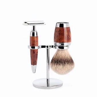 Muhle Thuya bois 3 Piece Safety Razor Set