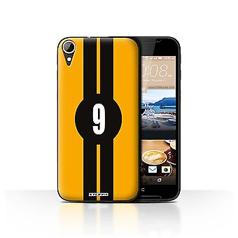 STUFF4 Case/Cover for HTC Desire 830/Ford/Yellow/Racing Car Stripes