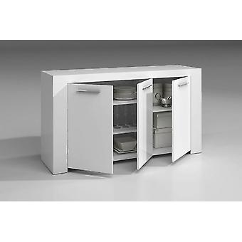 Bricohabitat Ambit Buffet 3 Doors White gloss 144x80x42 cm
