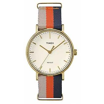 Timex Unisex Weekender Fairfax Orange Brown Strap TW2P91600 Watch