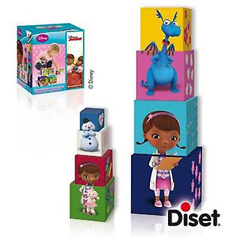 Diset Stackable cubes Doctor Toys