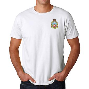 Canadian Parachute Regiment Airborne Embroidered Logo - Ringspun Cotton T Shirt