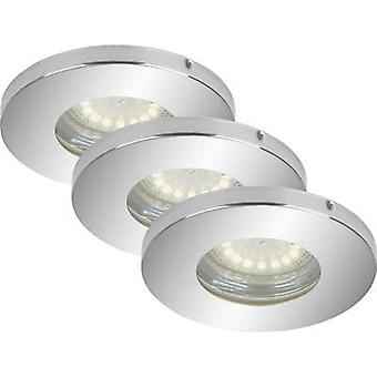 Bathroom flush mount light LED GU10 12 W IP44 Briloner Chrome