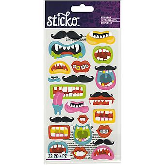 Sticko Stickers-Funny Mouths & Mustaches E5201246