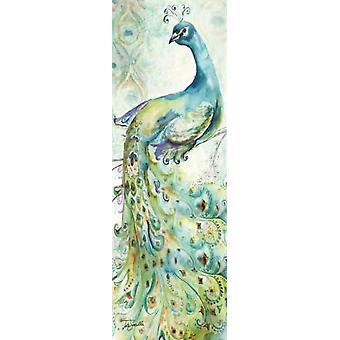 Bohemian Peacocks Panel I Poster Print by  Tre Sorelle Studios