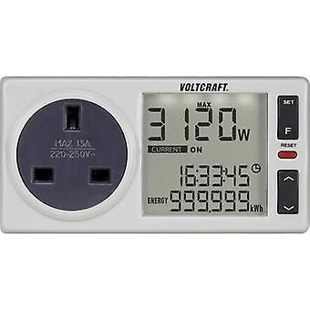 Energy consumption meter VOLTCRAFT 4500PRO UK built-in child safety guard, Selectabl