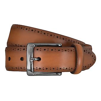 SAKLANI & FRIESE belts men's belts leather belt Brown 5116