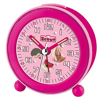 Scout girls alarm clock Alarm Clock NightLight LED pink 280001043