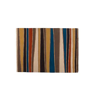 Blue & Yellow Striped Contemporary Rug Carnival  160X230
