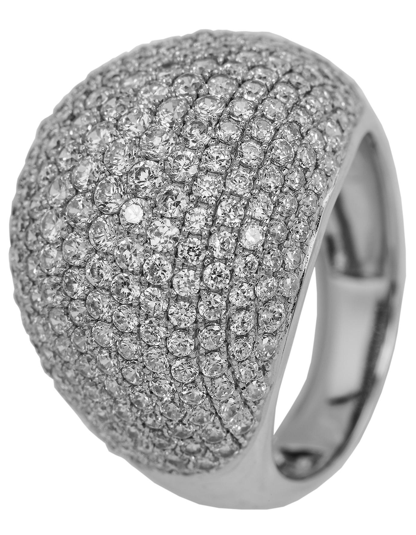 Burgmeister women's ring JBM2003-111, 925 sterling silver rhodanized, white zirconia
