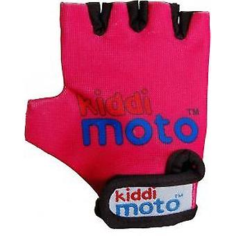 Kiddimoto Cycling Gloves Neon Pink