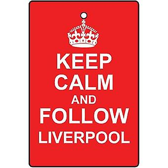 Keep Calm And Follow Liverpool Car Air Freshener