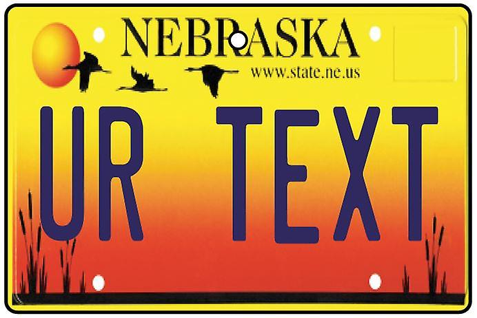Personalised Nebraska Numberplate Car Air Freshener