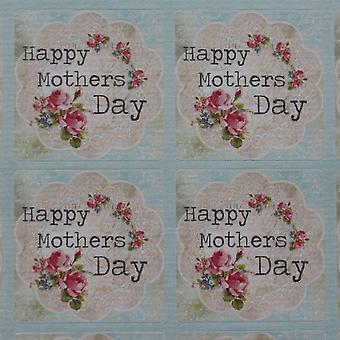Mothers Day Sticker Sheet Happy Mothers Day - 35 stickers Vintage Floral