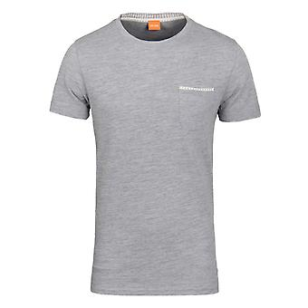 BOSS Orange Tile Grey Marl Pique Short Sleeve T-Shirt