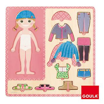 Goula Nestable girl to dress (Toys , Preschool , Puzzles And Blocs)