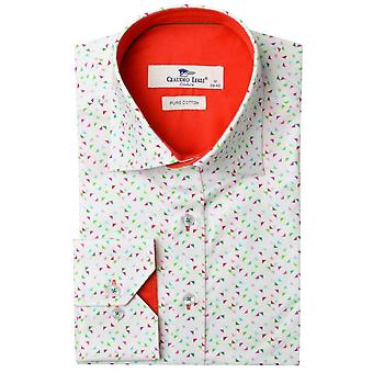 Claudio Lugli Graphic Triangle Print Mens Shirt