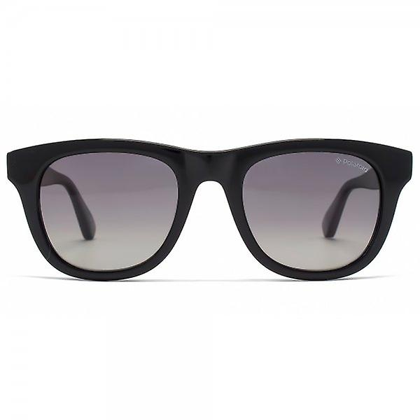 Polaroid Plus Wayfarer Sunglasses In Black Grey Gradient Polarised