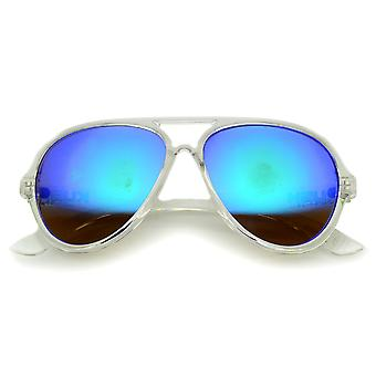 Mens Aviator Sunglasses With UV400 Protected Mirrored Lens