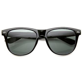 Stor Retro klassisk glas linse Casual Horn kantede solbriller 54mm