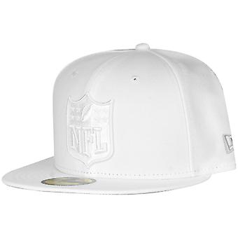 New era 59Fifty Fitted Cap - NFL SHIELD logo white