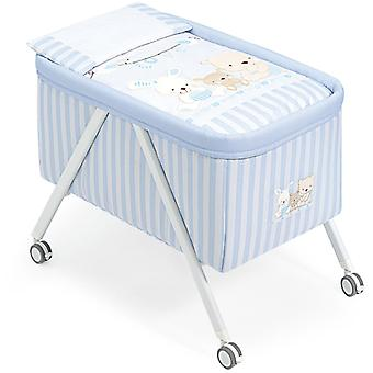 Interbaby Minicuna Love Blue Aluminium Grey Model