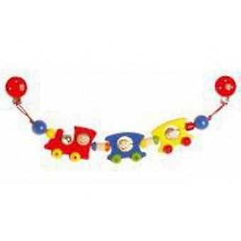 Goki Pram chain train with clips (Toys , Preschool , Babies , Early Childhood Toys)