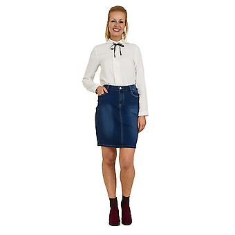 Classic Denim Skirt UK 14-22 Darkwash Jean Skirt with stretch