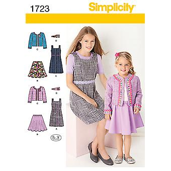 Simplicity Child's and Girls' Sportswear-10-12-14-16-18 US1723HH