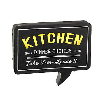 Light Up LED Kitchen Speech Bubble Sign