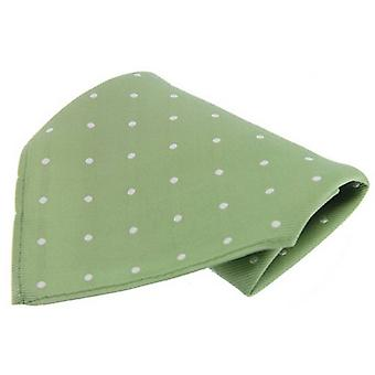 David Van Hagen Polka Dot Handkerchief - Lime/White