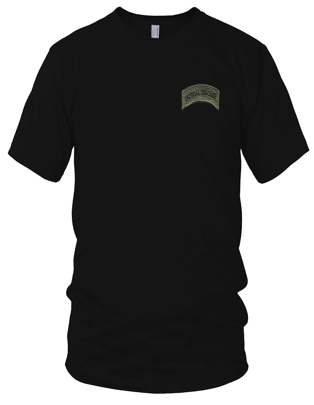 Streitkräfte, Sheriffs und Polizei, die taktische Tracker Rocker Patch gestickt - Haken und Schleife Herren-T-Shirt