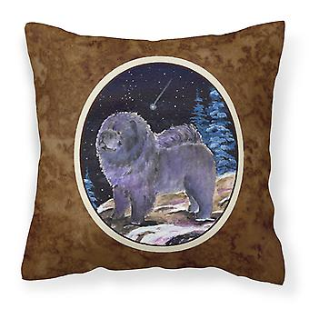 Carolines Treasures  SS8456PW1414 Starry Night Chow Chow Decorative   Canvas Fab