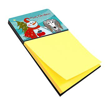 Carolines Treasures  BB1849SN Snowman with Saluki Sticky Note Holder