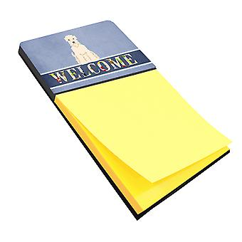Soft Coated Wheaten Terrier Welcome Sticky Note Holder