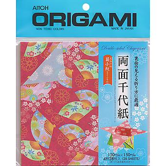 Origami Paper 28 Pkg Ryomen Double Sided 5.875