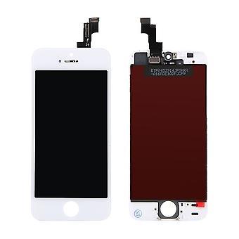 A + 5S LCD pekskärm iPhone vit