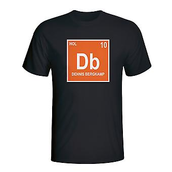 Dennis Bergkamp Holland Periodic Table T-shirt (black)