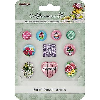 ScrapBerry's Afternoon Tea Crystal Stickers-10/Pkg 53000006