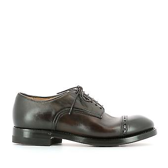 Silvano Sassetti men's 9233832U1 brown leather lace-up shoes