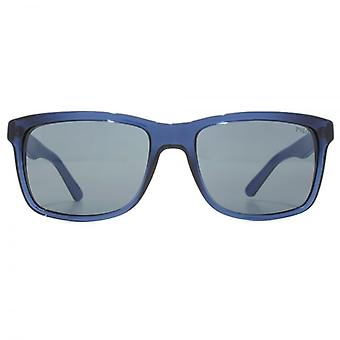 Polo Ralph Lauren Retro Style Sunglasses In Transparent Blue