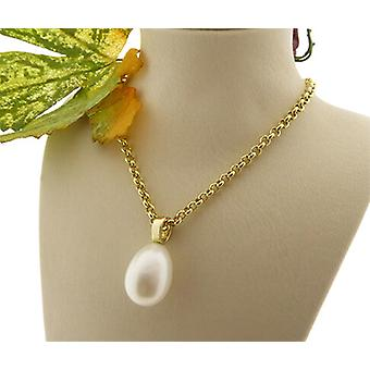 Single pearl freshwater pearl necklace