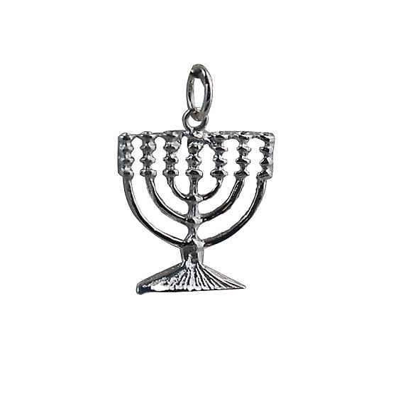 Zilver 17x17mm Menorah hanger of bedel