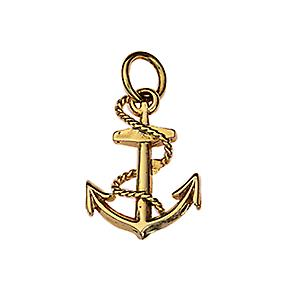 9ct Gold 17x13mm Anchor Pendant or Charm